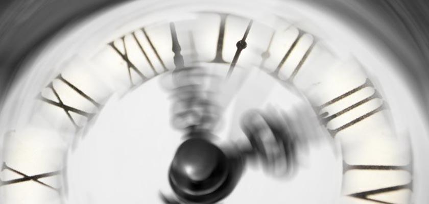 ponteiros de relógio muito rápidos