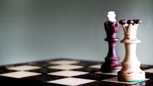 peça de xadrex no tabuleiro