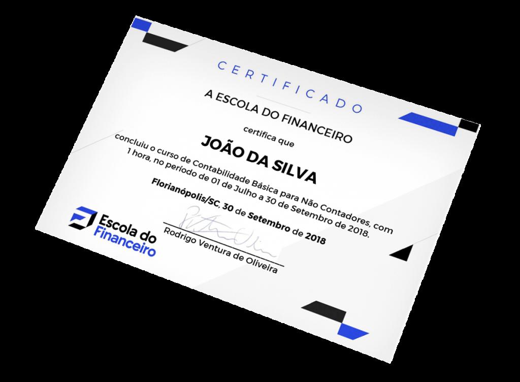 Imagem do certificado de conclusão do curso Modelagem e Projeções Financeiras